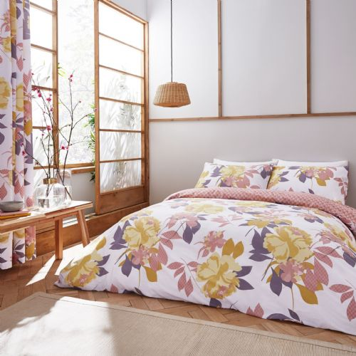 Catherine Lansfield Elina Floral Blush Bedding Set